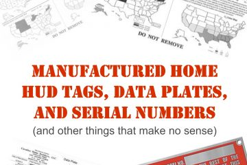 Manufactured Home HUD Tags, Labels, Serial Numbers, Data Plates (and other things that make no sense) (1200)