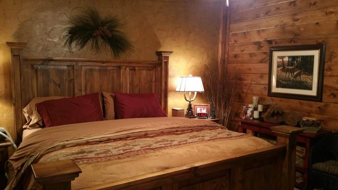 Manufactured Home Bedroom Remodel - Rustic Cabin Style