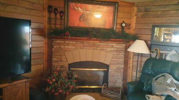 Rustic Cabin Manufactured Home Remodel -  Living Room After 3