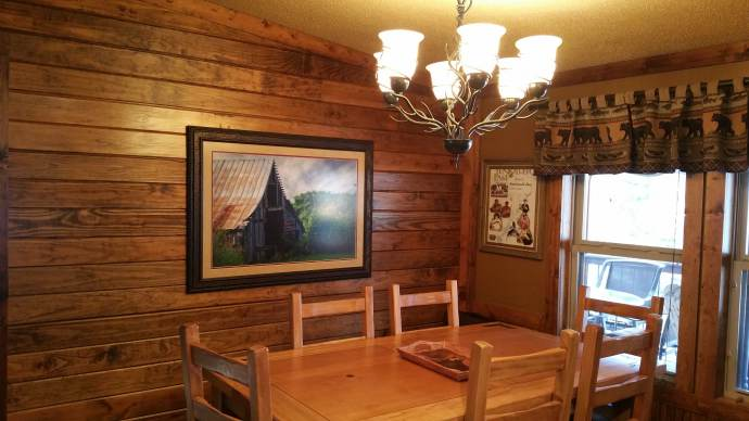 Manufactured Home Gets Rustic Cabin Makeover - Dining Room After