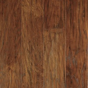 Marcona Hickory Laminate Floating Floor - Budget-Friendly Mobile Home Kitchen Makeover
