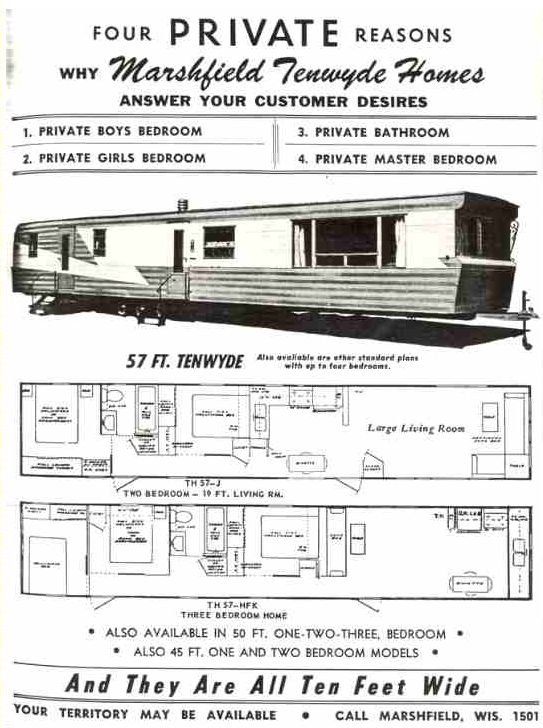 Vintage mobile homes throwback thursday issue 1 for Marshfield homes floor plans