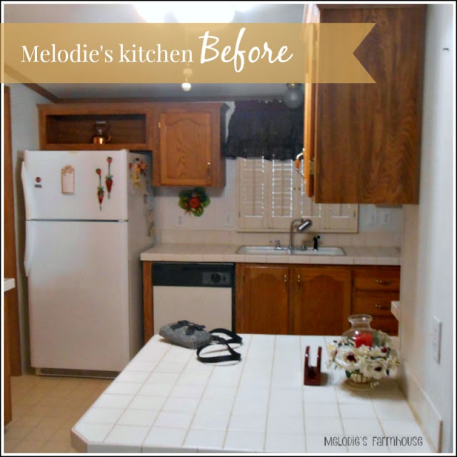 modern manufactured home makeover - the kitchen before