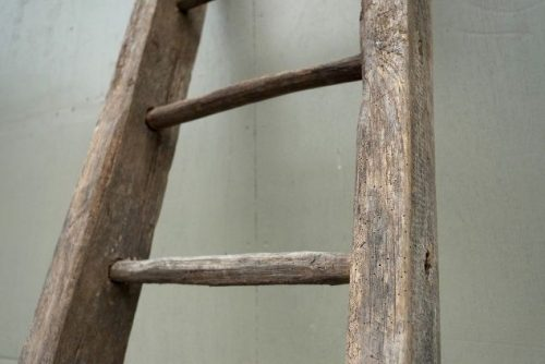 farmhouse kitchen makeover-old-barn-ladder-find