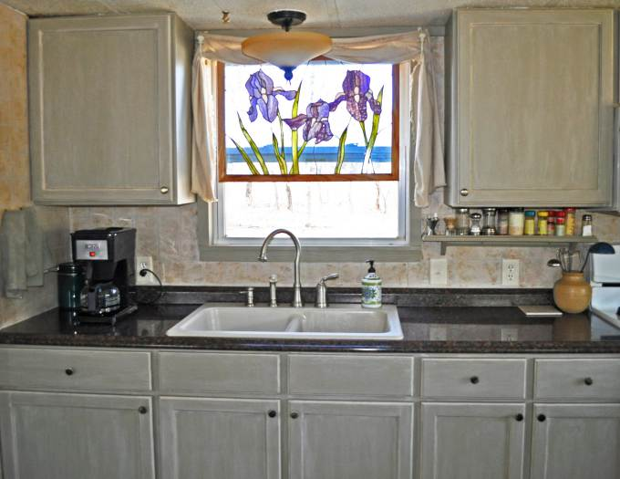 budget friendly mobile home kitchen makeover new sink and faucet - Budget Kitchen Sinks