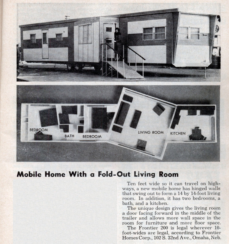 mobile home with fold out