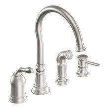 Moen faucet placed in mobile home - Budget-Friendly Mobile Home Kitchen Makeover