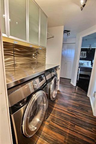 Monster inspired mobile home - laundry room with modern design