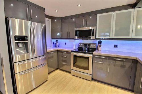Monster Inspired Mobile Home   Sleek Modern Kitchen