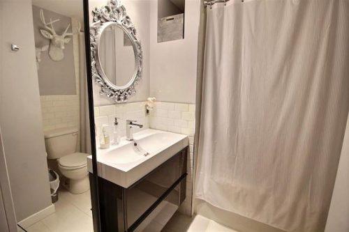 Monster Inspired Mobile Home -bathroom - Open space living