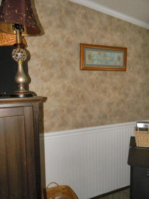 Vinyl Walls In Mobile Homes My Mobile Home Makeover   Wallpaper Over Mobile Home  Walls
