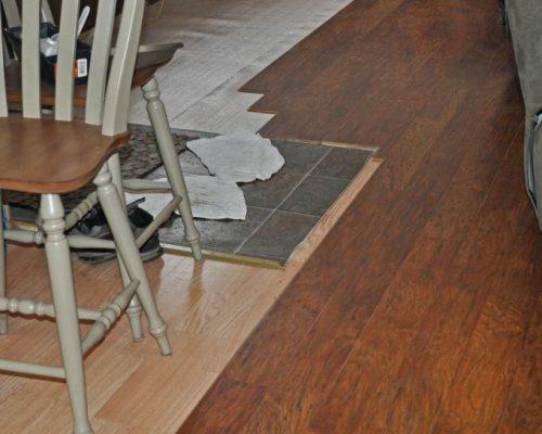 New Allen Roth floating flooring - Mobile Home Kitchen Makeover