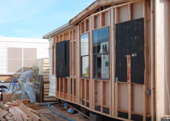 New Siding on a Park Model Mobile Home