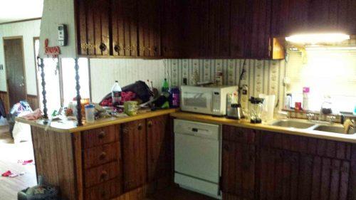 Original kitchen before 1979 single wide transformation