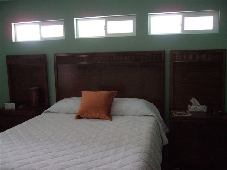 bedroom in remodeled manufactured home