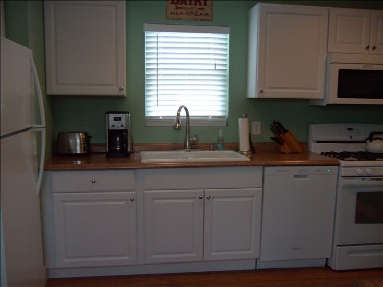 kitchen in remodeled manufactured home