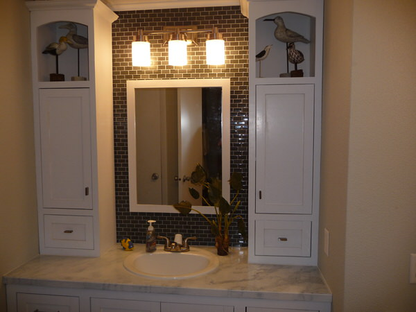 mobile home bathroom before and after-one sink