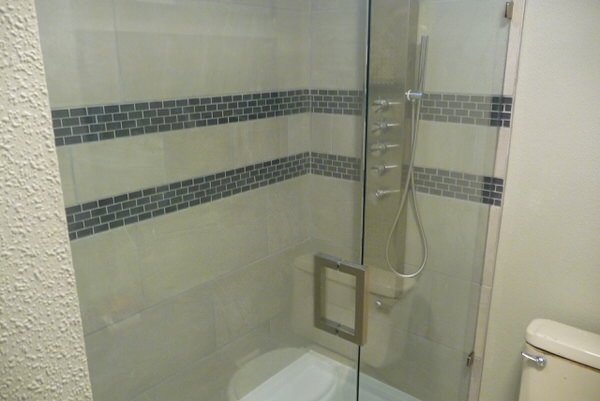 mobile home bathroom before and after-shower