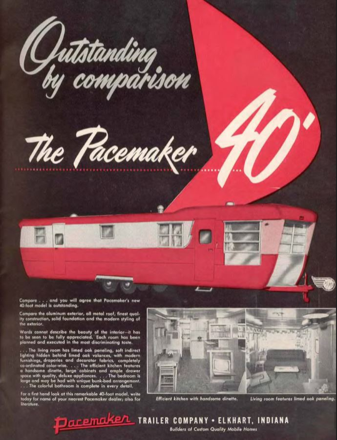 vintage mobile homes-Pacemaker 1955