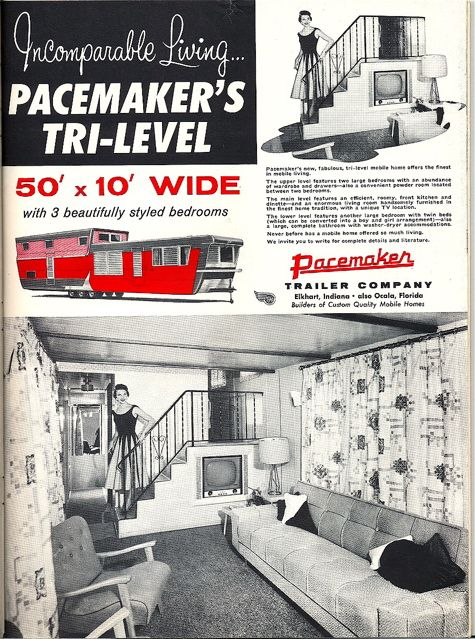 Pacemaker 50 foot tri level mobile home