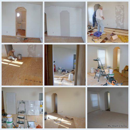 Painting Vinyl Mobile Home Walls - Geneva's master bedroom