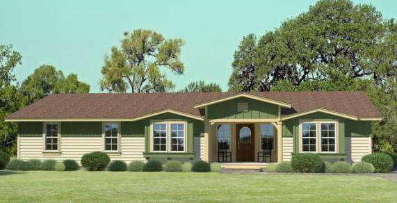 Palm Harbor Manufactured Floor Plan - Elevation Rendering