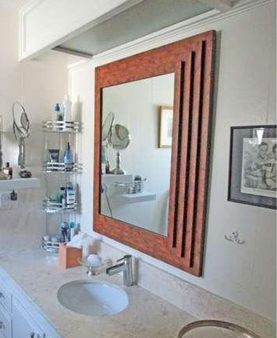 mid-century modern-Palm Springs mid-century style mobile home bathroom inspiration
