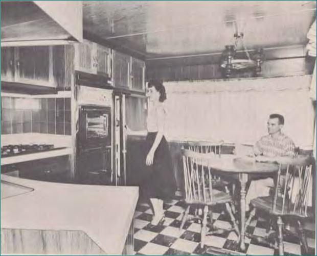 Pan American 1960 Cozy Front Kitchen