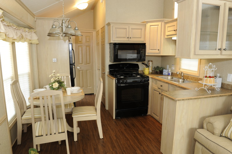 A look at park model mobile homes mobile home living for Model home interior photos