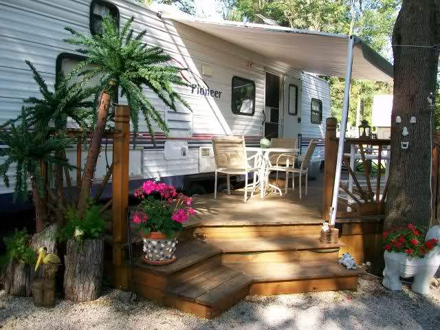 Permanent RV deck Design ideas