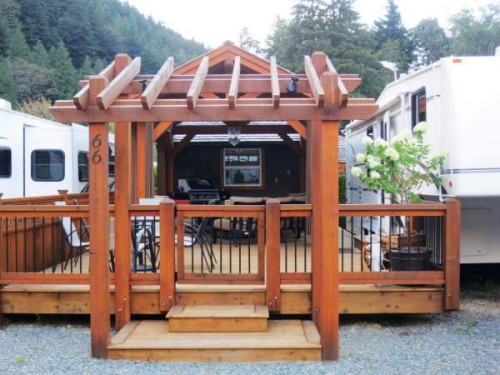 Permanent RV deck Design- arts and crafts style