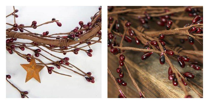 Pip Berry Garland in Primitive Country Decor