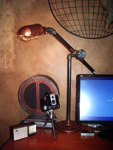 Pipe Desk Lamp - DIY tutorial