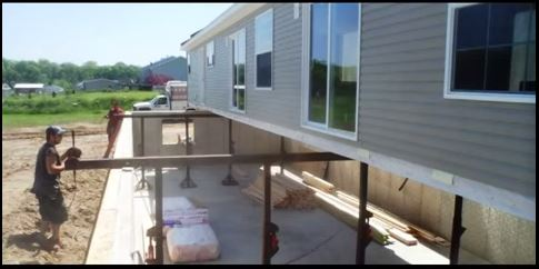 make your manufactured home look more like a site-built home - Placing a Manufactured Home Over a Full Basement