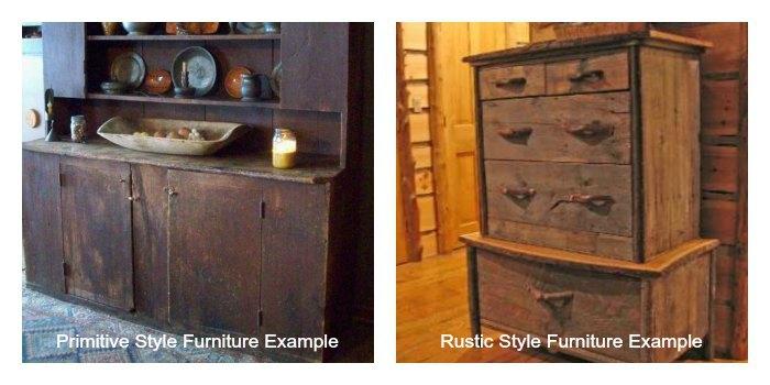 Primitive vs Rustic Furniture Styles