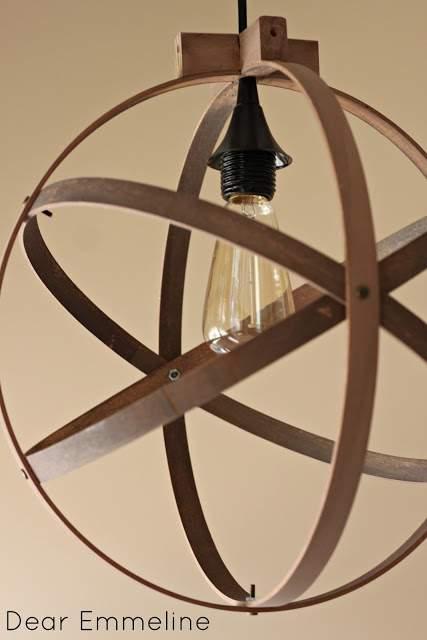 Quilt hoops DIY light pendant