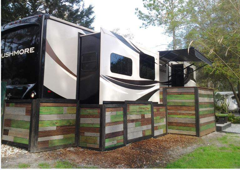 RV Deck Design - Portable, Stylish and Modern Style