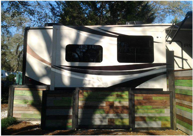 RV Deck Design - Portable, Stylish and Modern, and colorful Style