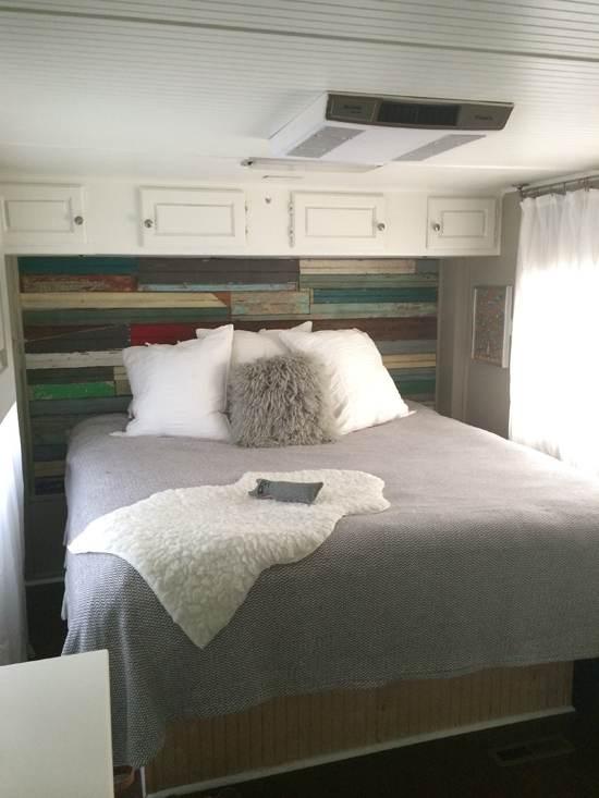 RV Remodel - After bedroom decor update