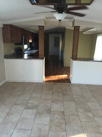 New flooring in 1998 Single Wide Manufactured Home
