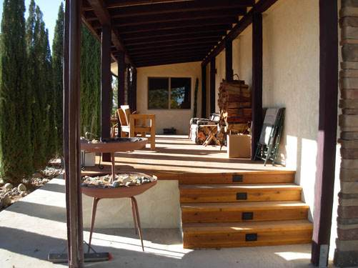 Exterior Mobile Home Remodel: Desert Double Wideb - After the Remodel - Porch