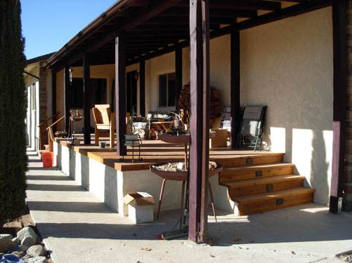 Exterior Mobile Home Remodel: Desert Double Wide - After the Remodel - Porch