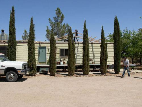 Exterior Mobile Home Remodel: Desert Double Wide - New Roofing Install