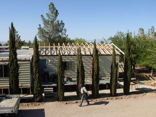 Exterior Mobile Home Remodel: Desert Double Wide - Roof Installation