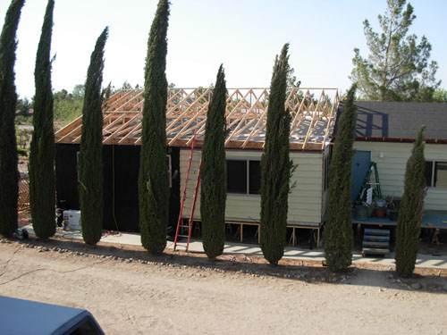 Exterior Mobile Home Remodel: Desert Double Wide - Addition and New Roof