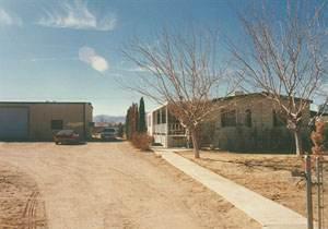 Exterior Mobile Home Remodel: Desert Double Wide - Exterior Side View before Remodel