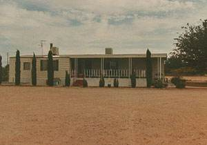 Exterior Mobile Home Remodel: Desert Double Wide - Old Home Before Remodel - front exterior view