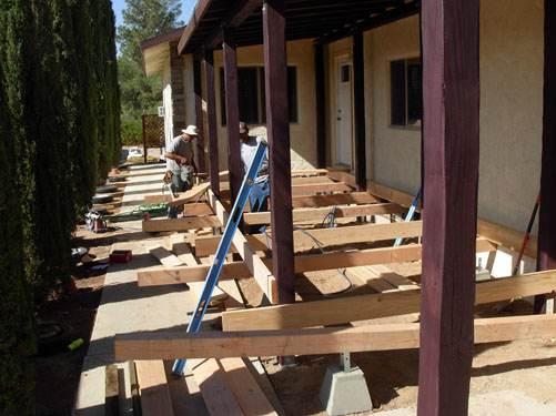 Exterior Mobile Home Remodel: Desert Double Wide - New Porch Build