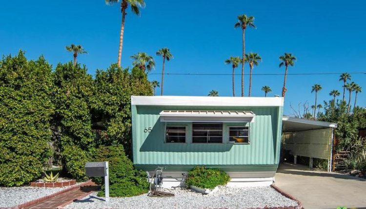 1962 Skyline is a Vintage Mobile Home Beauty - Metal mobile home siding painted teal