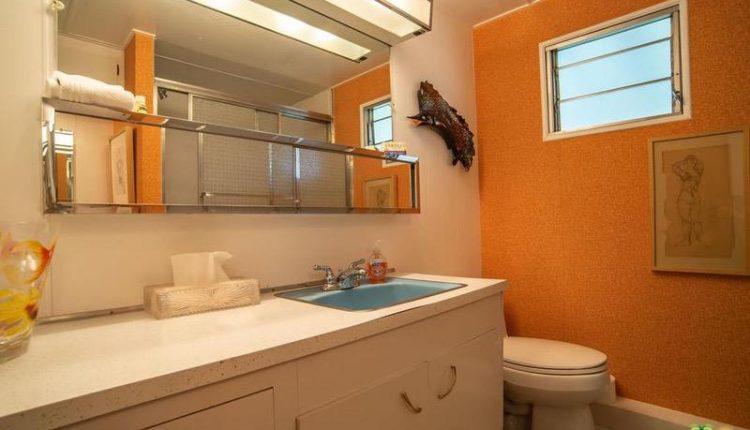 1962 Skyline is a Vintage Mobile Home Beauty - Bathroom